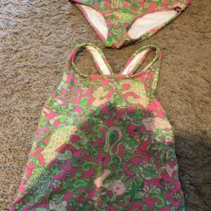 Lilly Pulitzer Girls Size 7 Two Piece Swimsuit